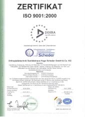 Zertifikat ISO 9001:2000
