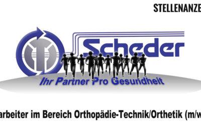 Mitarbeiter im Bereich Orthopädie-Technik/Orthetik (m/w/d)